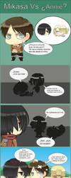 Exp. No 1: Mikasa vs Annie by Rocio-Aj
