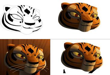 tigresa proceso de dibujo by Rocio-Aj