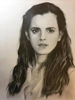 Portrait of Emma Watson by traydraws