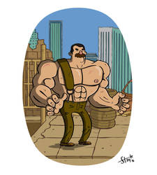 Mike Haggar. by stayte-of-the-art