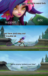 When you go ward and your ADC dies by turfex