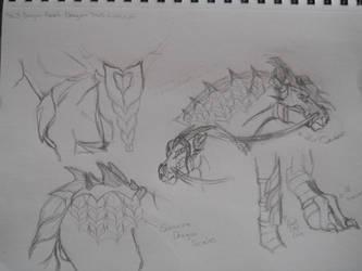 Dragon's Blood Dragon Tack Concepts by Alerium