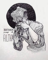 inktober day 18 - filthy by echonidae