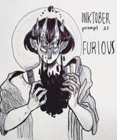 inktober day 21 - furious by echonidae