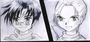 Harry and Draco by HimenoSora