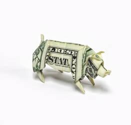 One Dollar Pig by orudorumagi11
