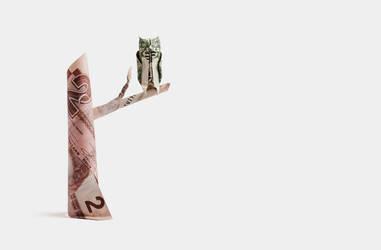 One Dollar Horned Owl by orudorumagi11
