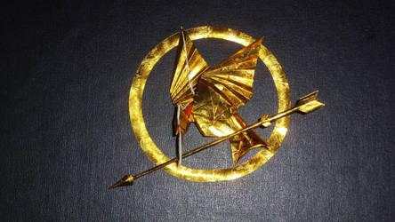Origami  Mockingjay  from  Hunger Games by orudorumagi11