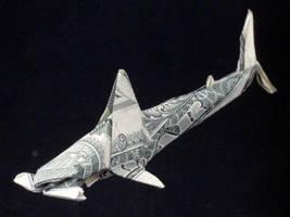 One Dollar Hammer-head Shark by orudorumagi11