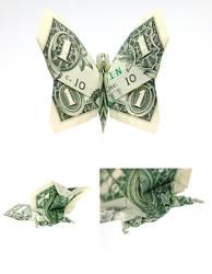 One Dollar Butterfly by orudorumagi11