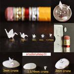 Miniature cranes 2 by orudorumagi11