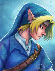 Blue Tunic Link by Merina-Sky