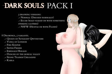 Dark Souls Girls (NSFW and Hentai Ver.) Pack 1 by Noir-Black-Shooter