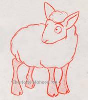 Orange Sheep by Petlamb