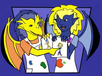 Jan 09: Artists as Gargoyles 2 by ekkapinto-MGC