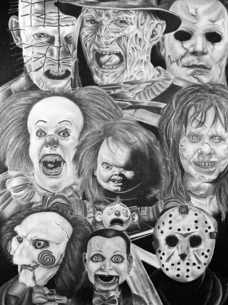 Horror Movie Characters 3 By Branthedon On Deviantart
