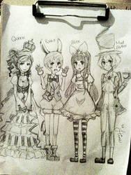Alice in Wonderland by EkakiHime