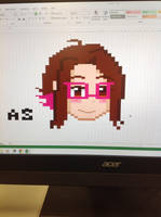 Excel Pixel Art by PrinsesDaisyfanfan1