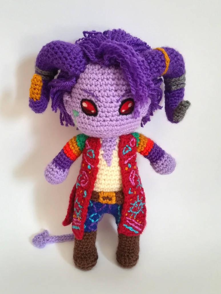Mollymauk Tealeaf amigurumi doll (Critical Role) by Kichigurumi