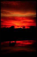 Horse Sunset Version2 by Eternal-Polaroid