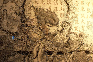 monkey king-the detail by Wangyuxi