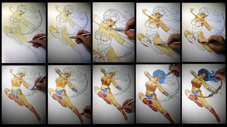 Tutorial Colored Pencil by leidanogueira