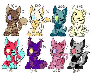 kitten adopts (#2) by Keewifnaf