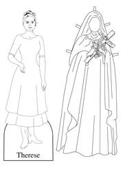 St Therese of the Child Jesus Paper Doll by Cecilia-Pekelharing