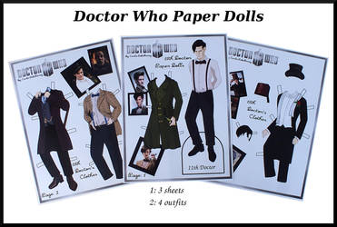 11th Doctor Who paper doll by Cecilia-Pekelharing