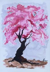 Cherry Tree by Cecilia-Pekelharing
