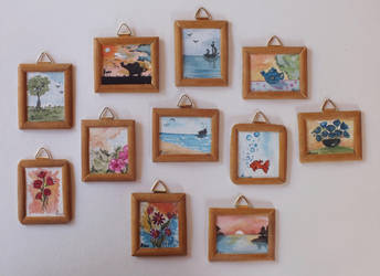 Classic Mini Paintings For sale by Cecilia-Pekelharing