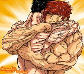 Dante Greg hug 25.03.14 by Kensoudojo
