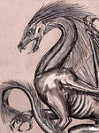 Dragon on Tinted Paper by gpalmer