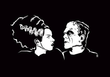 Mr. and  Mrs. Frankenstein by nuohooja