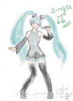 vocaloid Miku Hatsune by heglys