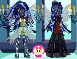 Equestria Girls Queen Chrysalis Dress Up by heglys