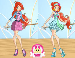 Winx Club Bloom Season 6 Outfits Dress Up by heglys