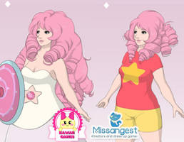 Crystal Gem Rose Quartz Dress Up Game by heglys