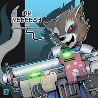 Rocket Raccoon - Oh Yeeeeah... by PaperMoon92