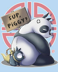 Sup, Piggy? - Ranma 1/2 by PaperMoon92
