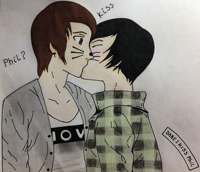 Dare: kiss Phil - Phan by XXyukichan