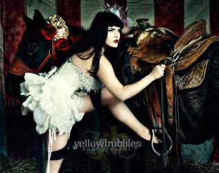 Circus - Horse Acrobat by TemiraYellowBubbles