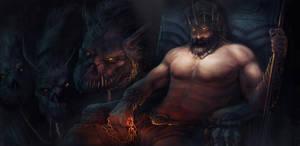War of the Gods - Hades' Throne by EmmanuelMadailArt