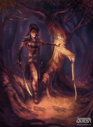 Elven Scout by EmmanuelMadailArt