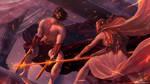 Battle of the Gods by EmmanuelMadailArt