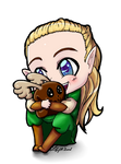 Legolas Loves His Elk Plushie by LilyOfTheSword