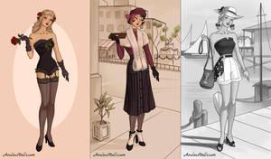 40s Fashion (dress up game) by AzaleasDolls