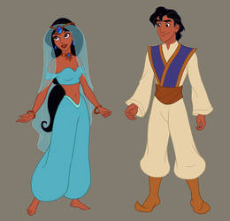 Arabian Nights collab (upcoming dress up game) by AzaleasDolls