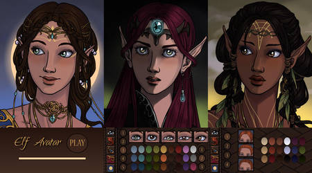 Elf Avatar App by AzaleasDolls