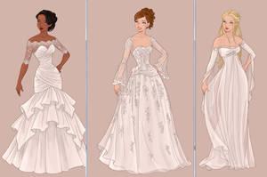 Progress for Wedding Dress by AzaleasDolls